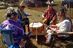 "Nanticoke Indian tribe's drum group, ""Tidewater Agency."""
