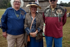 "L - R: NWBI Councilwoman Eva "" White Raven"" Bartrum, Midge Ingersoll & NWBI Councilman Steve ""Morning Crow"" Abbott."