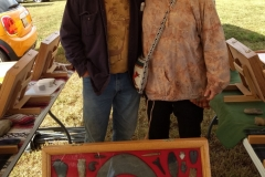 Terry & Cindy Crannell with part of his artifacts exhibit.