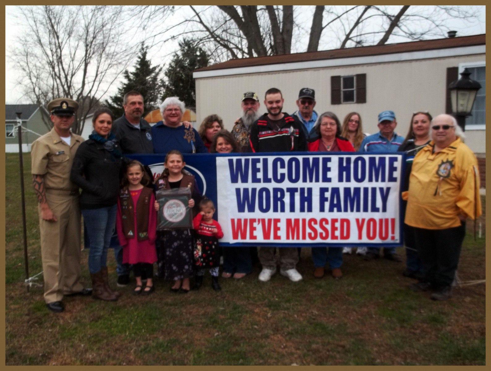 Nause-Waiwash Welcome Home the Worth Family