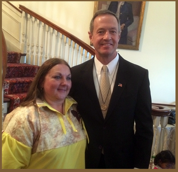 Chief Wolf Mother & Governor O'Malley